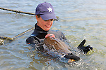 Melissa Miller With Thornback Ray