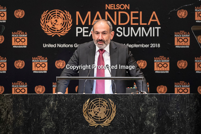 Opening Plenary Meeting of the Nelson Mandela Peace Summit<br /> <br /> His Excellency Nikol PASHINYANPrime Minister of the Republic of Armenia