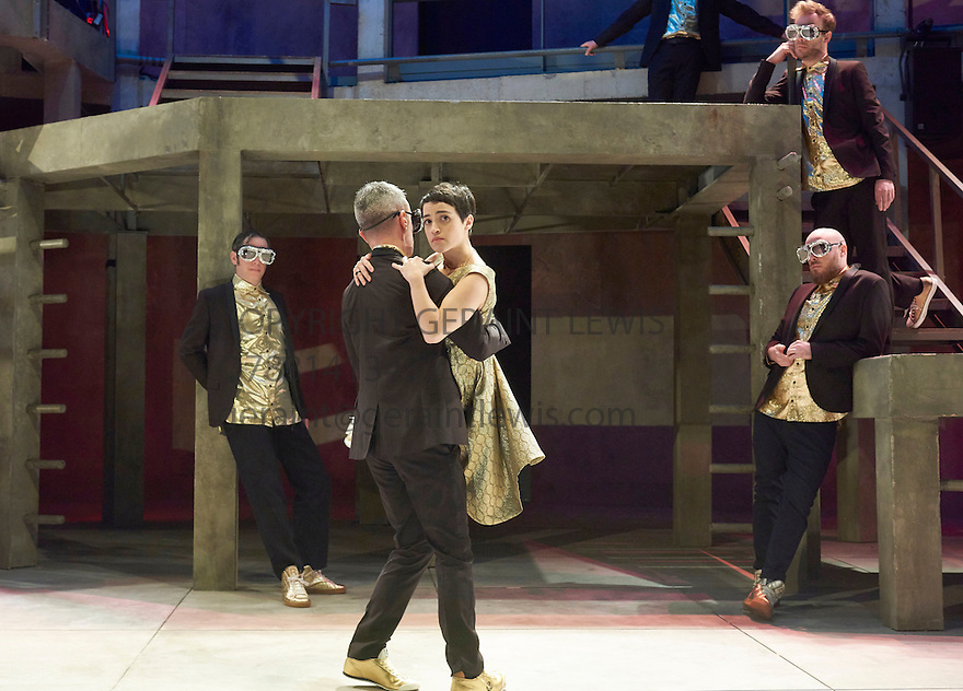 Romeo and Juliet by William Shakespeare, directed by Sally Cookson. With Audrey Brisson as Juliet [SHORT HAIR]Opens at The Rose Theatre, Kingston upon Thames  on 4/3/15. CREDIT Geraint Lewis