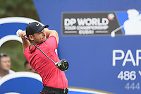 Adrian Otaegui (ESP) on the 16th fairway during the 3rd round of the DP World Tour Championship, Jumeirah Golf Estates, Dubai, United Arab Emirates. 17/11/2018<br /> Picture: Golffile | Fran Caffrey<br /> <br /> <br /> All photo usage must carry mandatory copyright credit (&copy; Golffile | Fran Caffrey)