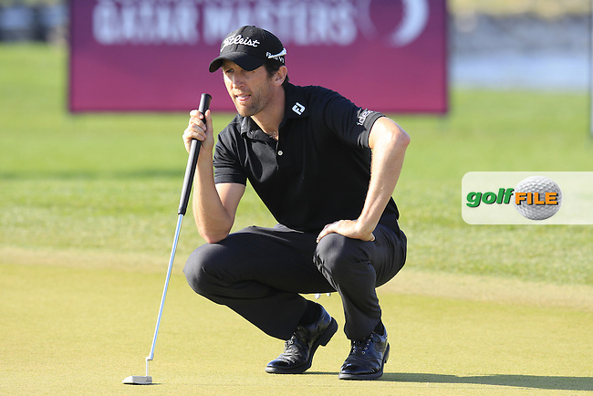 Gregory BOURDY (FRA) on the 15th green during Saturday's Final Round of the 2015 Commercial Bank Qatar Masters held at Doha Golf Club, Doha, Qatar.: Picture Eoin Clarke, www.golffile.ie: 1/24/2015