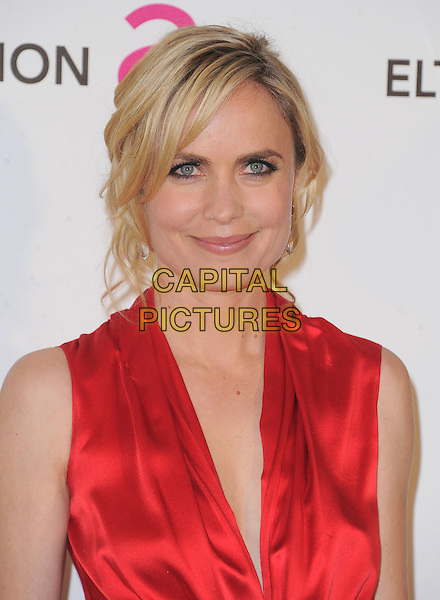 Radha Mitchell.The 21st Annual Elton John AIDS Foundation Academy Awards Viewing Party held at The City of West Hollywood Park in West Hollywood, California, USA..February 24th, 2013.oscars headshot portrait red silk satin sleeveless .CAP/DVS.©DVS/Capital Pictures.