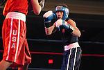 8 June 2007:  David Clark (Blue), San Diego, California  and Ronny Rios (Red), Santa Ana, California square off for the Bantamweight crown at the 2007 U.S. Boxing Championships, Colorado Springs, Colorado.