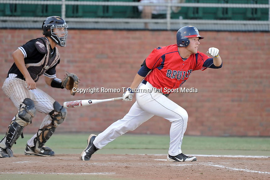 May 26, 2012: Belmont Bruins c/infielder Matt Beaty (29) at bat during ASUN Championship baseball game action between the Kennesaw Owls and the Belmont Bruins. Belmont defeated Kennesaw 10-4 to win their second straight ASUN Championship at Melching Field at Conrad Park in De Land, FL
