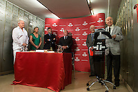Writer and Cervantes Award 1999, Jorge Edward deposit a legacy in &quot;the Box of the Words&quot; at Cervantes Institute in Madrid, July 08. 2015<br />  (ALTERPHOTOS/BorjaB.Hojas)