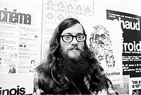 Raoul Duguay , Mars 1973 (date exacte inconnue)<br /> <br /> Photo : Agence Quebec Presse  -  Alain Renaud