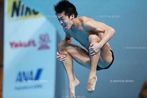 Sho Sakai (JPN), JULY 30, 2015 - Diving : 16th FINA World Championships Kazan 2015 Men's 3m Springboard Preliminary at Aquatics Palace in Kazan, Russia. (Photo by Yohei Osada/AFLO SPORT)