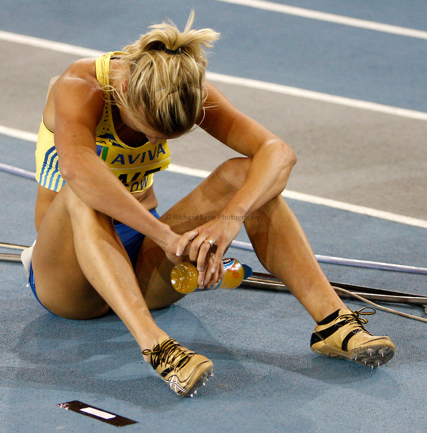 Photo: Richard Lane/Richard Lane Photography. Aviva International Match. 30/01/2010. Sweden's Elin Backman after the women's 200m.