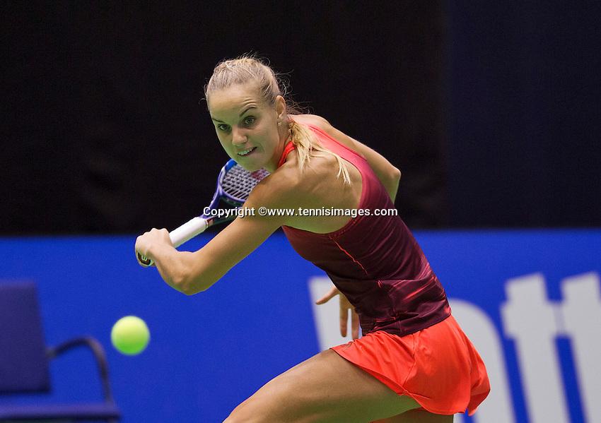 Rotterdam, Netherlands, December 17, 2015,  Topsport Centrum, Lotto NK Tennis, Arantxa Rus (NED)<br /> Photo: Tennisimages/Henk Koster