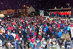 The huge crowd that gathered  to welcome home Glenbeigh/Glencar team at their homecoming in Glenbeigh on Monday night