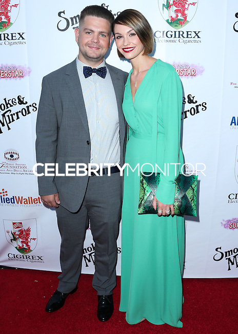 BEVERLY HILLS, CA, USA - SEPTEMBER 13: Jack Osbourne and Lisa Stelly arrive at the Brent Shapiro Foundation For Alcohol And Drug Awareness' Annual 'Summer Spectacular Under The Stars' 2014 held at a Private Residence on September 13, 2014 in Beverly Hills, California, United States. (Photo by Xavier Collin/Celebrity Monitor)