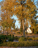 AUSTRIA, Podersdorf, town in the early morning, Burgenland