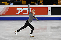 Tuesday, March 29, 2016: Viveca Lindfors (FIN) skates during a practice session at the International Skating Union World Championship held at TD Garden, in Boston, Massachusetts. Eric Canha/CSM