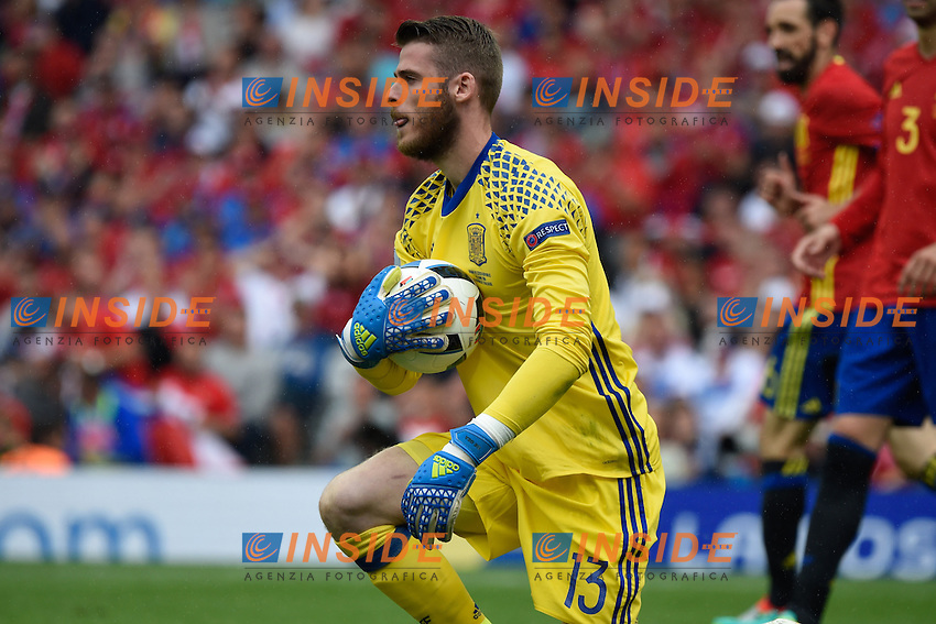 David De Gea <br /> Toulouse 13-06-2016 Stade de Toulouse Footballl Euro2016 Spain - Czech Republic  / Spagna - Repubblica Ceca Group Stage Group D. Foto Thierry Breton / Panoramic / Insidefoto