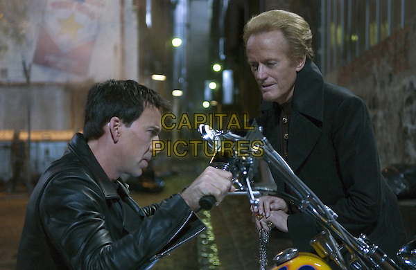 Nicolas Cage & Peter Fonda.in Ghost Rider.*Filmstill - Editorial Use Only*.CAP/NFS.Supplied by Capital Pictures.