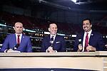 ATLANTA, GEORGIA - DECEMBER 08: Ivan Kasanzew, Don Garber, Diego Balado. Atlanta United FC and the Portland Timbers played on December 8, 2018, at Mercedes Benz Stadium in Atlanta, Georgia in MLS Cup 2018. Atlanta United won the championship final 2-0.