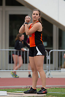 Oxy star thrower Sabrina Degnan '19 won the hammer and the javelin on Day 1.<br /> The Occidental College men's and women's track and field teams compete in the 2019 Southern California Intercollegiate Athletic Conference (SCIAC) Track and Field Championships at the Claremont-Mudd-Scripps Burns Track Complex in Claremont, Calif. on Sunday, April 28, 2019.<br /> After the two-day SCIAC Championships CMS scored 211.50 points, followed by Pomona-Pitzer (171.50), Redlands (114), Occidental (92.50), Whittier (57.50), La Verne (54), Cal Lutheran (48), Chapman (23) and Caltech (4).
