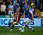 Mark Duffy of Sheffield Utd turns Joost van Aken of Sheffield Wednesday inside out before scoring during the Championship match at the Hillsborough Stadium, Sheffield. Picture date 24th September 2017. Picture credit should read: Simon Bellis/Sportimage