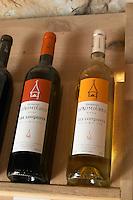 Cuvee Les Loupiots Vin de Pays d'Oc. Chateau St Jean d'Aumieres, Gignac village. Terrasses de Larzac. Languedoc. France. Europe. Bottle.