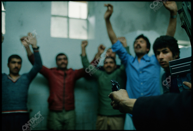 Iranian revolution, supporters of the Shah arrested,Tehran, Iran, February 1979