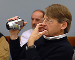 Ken Spencer in Newsday Photo Department staff meeting on Tuesday May 16, 2006. (Photo Copyright Jim Peppler 2006).