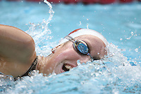 STANFORD, CA - JANUARY 22:  Angela Duckworth of the Stanford Cardinal during Stanford's 173-125 win over Arizona on January 22, 2010 at the Avery Aquatic Center in Stanford, California.