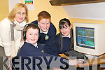 RTE PROGRAMME: Students from Pobalscoil Inbhear Sce?ine, Kenmare who will be featured on the RTE 1 programme 'Pobal' using the 'Fast Forward Neuron Learning' software to help with their education l-r: Norma Moriarty (tutor), Shane O'Sullivan, Richard Rice and Sandra Driscoll.   Copyright Kerry's Eye 2008