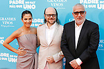 Actress Toni Acosta and actors Santiago Segura and Leo Harlem (r) attend the photocall of 'Padre no hay mas que uno'. July 18, 2019. (ALTERPHOTOS/Johana Hernandez)