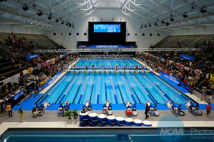 INDIANAPOLIS, IN - MARCH 18: IUPUI Natatorium during the Division I Women's Swimming & Diving Championships held at the Indiana University Natatorium on March 18, 2017 in Indianapolis, Indiana. (Photo by A.J. Mast/NCAA Photos via Getty Images)
