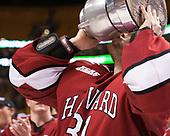 Merrick Madsen (Harvard - 31) - The Harvard University Crimson defeated the Boston University Terriers 6-3 (EN) to win the 2017 Beanpot on Monday, February 13, 2017, at TD Garden in Boston, Massachusetts.