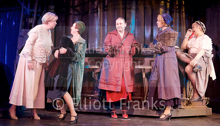 Three Comrades <br /> by Erich Maria Remarque <br /> Moscow Theatre <br /> Sovremennik <br /> at Piccadilly Theatre, London, Great Britain <br /> Press photocall <br /> 4th May 2017 <br /> <br /> <br /> <br /> Photograph by Elliott Franks <br /> Image licensed to Elliott Franks Photography Services