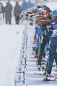 9th December 2017, Biathlon Centre, Hochfilzen, Austria; IBU Biathlon World Cup; Biathletes at the shooting range
