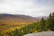 Scenic view from Pine Mountain in Gorham, Hampshire USA on a cloudy autumn day.