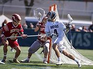 Washington, DC - March 31, 2018: Georgetown Hoyas Daniel Bucaro (4) runs with the ball during game between Denver and Georgetown at  Cooper Field in Washington, DC.   (Photo by Elliott Brown/Media Images International)