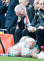 ::  ABERDEEN MANAGER CRAIG BROWN FEELS THE PRESSURE ::.25/04/2011  sct_jsp021_hamilton_v_aberdeen  .Copyright  Pic : James Stewart.James Stewart Photography 19 Carronlea Drive, Falkirk. FK2 8DN      Vat Reg No. 607 6932 25.Telephone      : +44 (0)1324 570291 .Mobile              : +44 (0)7721 416997.E-mail  :  jim@jspa.co.uk.If you require further information then contact Jim Stewart on any of the numbers above........