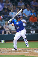 Corpus Christi Hooks third baseman J.D. Davis (26) at bat during a game against the Frisco RoughRiders on April 23, 2016 at Whataburger Field in Corpus Christi, Texas.  Corpus Christi defeated Frisco 3-2.  (Mike Janes/Four Seam Images)