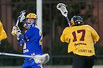 Los Angeles, CA 02/01/14 - Kyle Sieglein (UCSB #27) and Ross Ewing (USC #17)