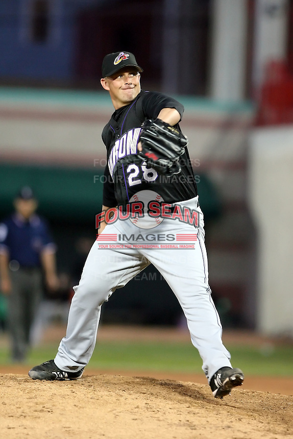 June 30th 2007: Cliff Politte of the Akron Aeros, Class-AA affiliate of the Cleveland Indians in a game versus the Erie Seawolves at Jerry Uht Park in Erie, PA.  Photo by:  Mike Janes/Four Seam Images