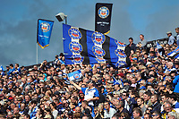 A general view of Bath Rugby supporters in the crowd. Aviva Premiership match, between Bath Rugby and Saracens on September 9, 2017 at the Recreation Ground in Bath, England. Photo by: Patrick Khachfe / Onside Images