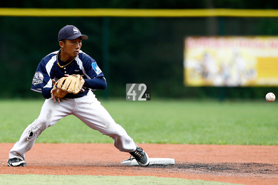 17 July 2011: Daisuke Dice Ikenaga of the Savigny Lions is seen during the 2011Challenge de France final match won 6-4 by the Rouen Huskies over the Savigny Lions, at Stade Pierre Rolland, in Rouen, France.