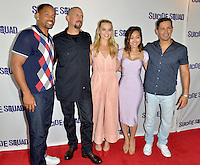 MIAMI, FL - JULY 25: Will Smith, David Ayer, Margot Robbie, Karen Fukuhara and Jay Hernandez attends the 'Suicide Squad' Wynwood Block Party and Mural Reveal with cast on July 25, 2016 in Miami, Florida.  Credit: MPI10 / MediaPunch
