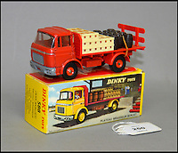 BNPS.co.uk (01202 558833)<br /> Pic: Astons/BNPS<br /> <br /> French Dinky Toy, 588 GAK Berliet Camion Brasseur 'Kronenbourg'.<br /> <br /> A retired historian's remarkable collection of 700 toy cars has sold for almost &pound;100,000.<br /> <br /> Anders Clausager, 67, amassed so many toy cars over the past 60 years he got his own auction to off-load them.<br /> <br /> A collector from Sheffield paid &pound;2,100 for a pack of 12 Lego miniatures set, while a prestigious French Dinky Toys set went for &pound;1,450 and a Corgi Toys set went for &pound;850 at the auction in Dudley.