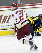 Brian Dumoulin (BC - 2) - The Boston College Eagles defeated the Merrimack College Warriors 7-0 on Tuesday, February 23, 2010 at Conte Forum in Chestnut Hill, Massachusetts.