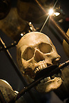 Skull prop at Pirates of the Caribbean Christmas party - Disney