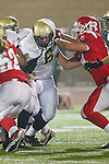 Redondo Beach, CA 10/14/11 - Arthur Fischer (Peninsula #67) in action during the Peninsula vs Redondo Union varsity football game.