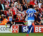 Kieron Freeman of Sheffield Utd controls the ball during the League One match at Bramall Lane Stadium, Sheffield. Picture date: September 17th, 2016. Pic Simon Bellis/Sportimage