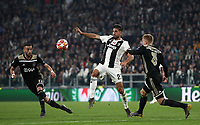 Football Soccer: UEFA Champions UEFA Champions League quarter final second leg Juventus - Ajax, Allianz Stadium, Turin, Italy, March 12, 2019. <br /> Juventus' Emre Can (c) in action with Ajax's Hakim Ziyech (l) and Daley Sinkgraven (r) during the Uefa Champions League football match between Juventus and Ajax  at the Allianz Stadium, on March 12, 2019.<br /> UPDATE IMAGES PRESS/Isabella Bonotto