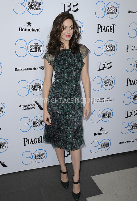 WWW.ACEPIXS.COM<br /> <br /> January 10 2015, LA<br /> <br /> Emmy Rossum attending the 2015 Film Independent Filmmaker Grant and Spirit Awards nominee brunch at the BOA Steakhouse on January 10, 2015 in West Hollywood, California.<br /> <br /> By Line: Peter West/ACE Pictures<br /> <br /> <br /> ACE Pictures, Inc.<br /> tel: 646 769 0430<br /> Email: info@acepixs.com<br /> www.acepixs.com