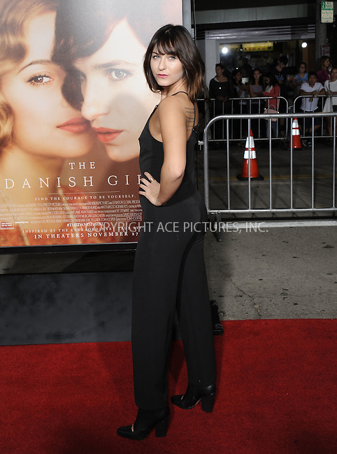 WWW.ACEPIXS.COM<br /> <br /> November 21 2015, LA<br /> <br /> Scout Taylor-Compton arriving at the premiere of Focus Features' 'The Danish Girl' at the Westwood Village Theatre on November 21, 2015 in Westwood, California. <br /> <br /> <br /> By Line: Peter West/ACE Pictures<br /> <br /> <br /> ACE Pictures, Inc.<br /> tel: 646 769 0430<br /> Email: info@acepixs.com<br /> www.acepixs.com