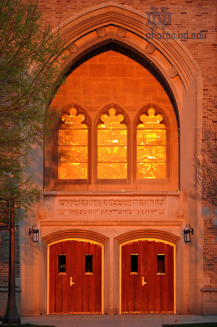 Mar. 21, 2012; Entrance to the great hall of O'Shaughnessy..Photo by Matt Cashore/University of Notre Dame